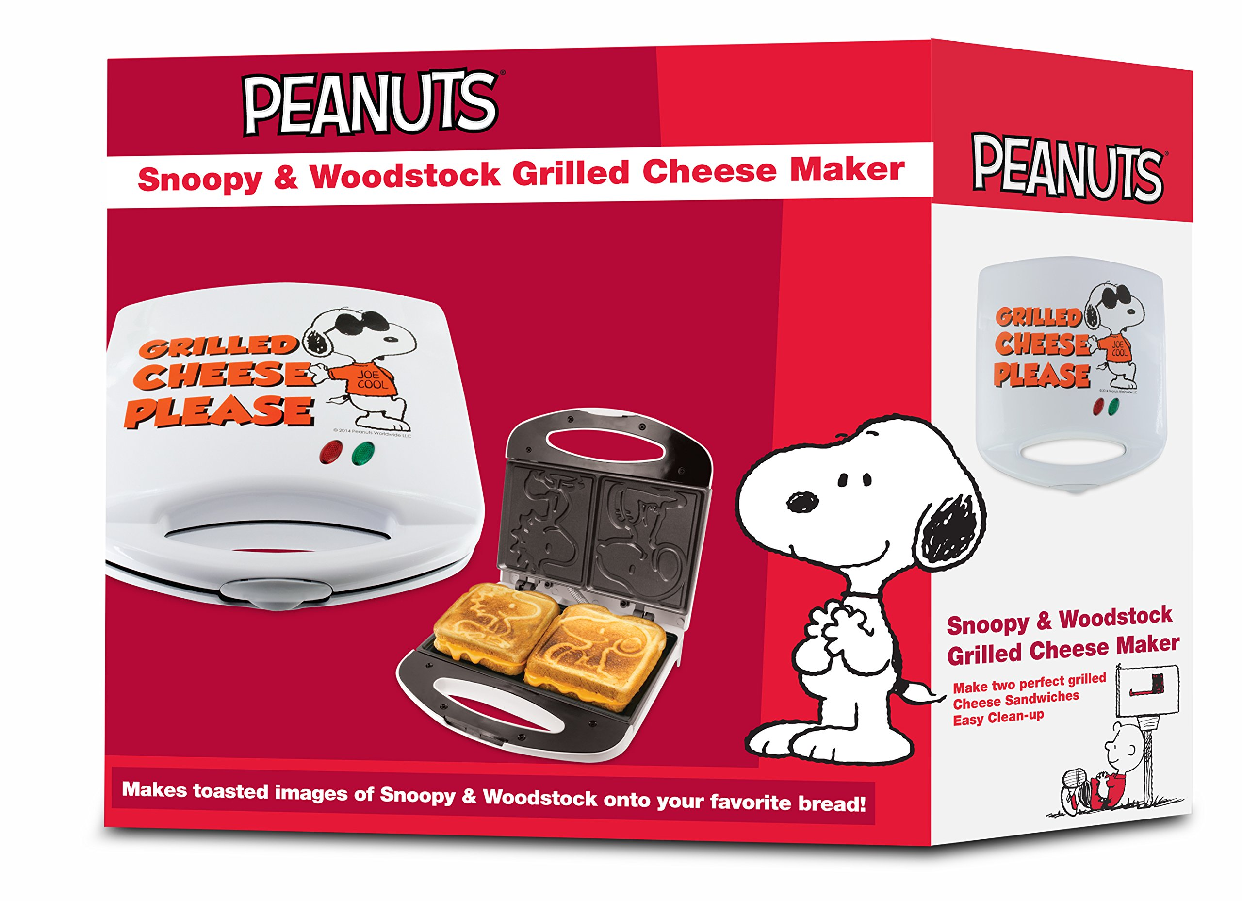 Smart Planet SGCM‐2 Peanuts Snoopy and Woodstock Grilled Cheese Sandwich Maker, White by Smart Planet (Image #6)