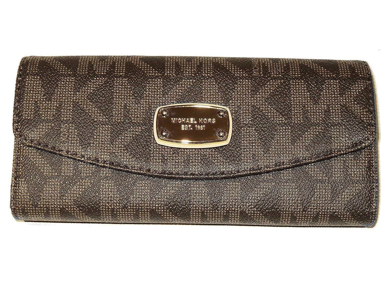 0a2e816e260155 Michael Kors Jet Set Slim Flap Wallet Brown at Amazon Women's Clothing  store: