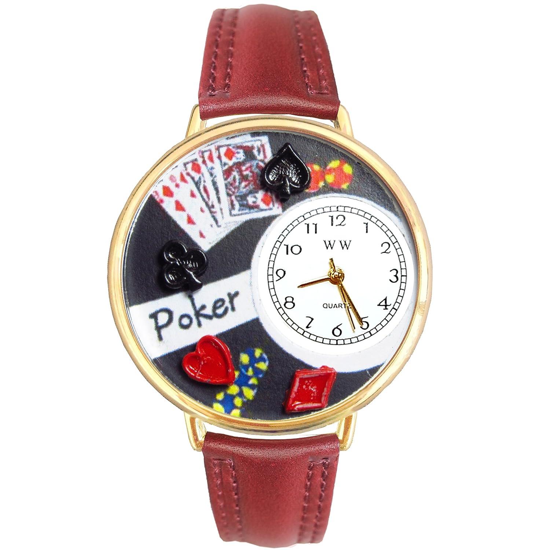 Whimsical Watches G-0430004 - Reloj analógico de cuarzo unisex, correa de cuero