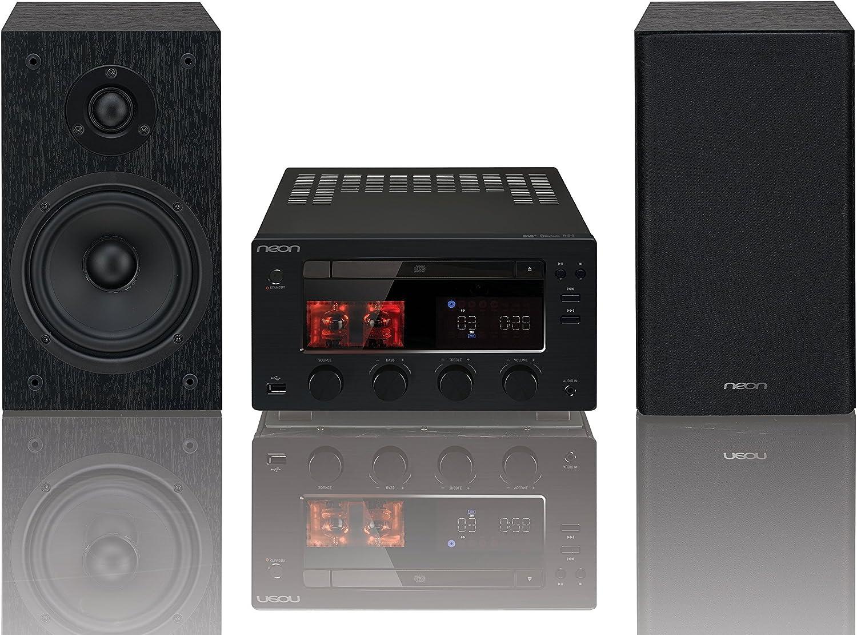Neon mtb980d–Minicadena–Amplificador de Tubo–2x 75W–CD Micro Hi-Fi Sistema de Dab +/FM de Bluetooth
