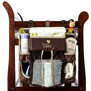 Buzzy babee Organizador de cambio de pañales, marrón/café Perfect Pañales Caddy & Playard de escritorio: Amazon.es: Bebé