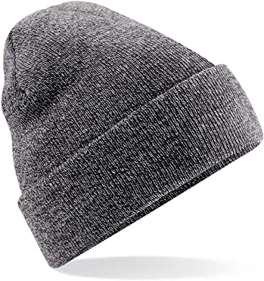Beechfield Junior Original Cuffed Beanie Double Layer Knit Winter Headwear Hat