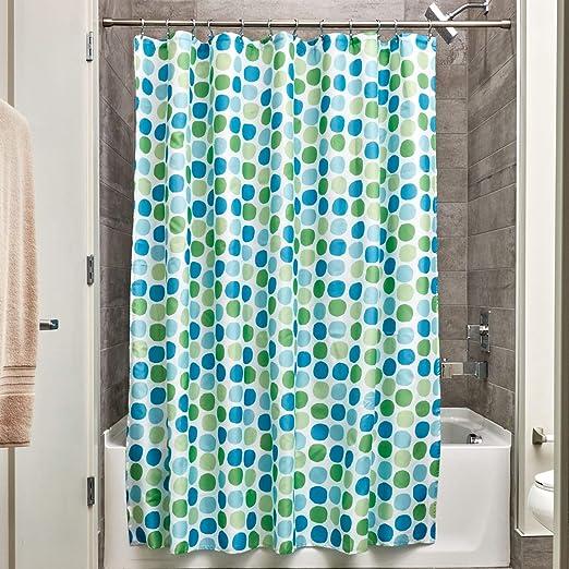 "Free Shipping InterDesign Chevron Soft Fabric Shower Curtain 72/"" x 72/"" Navy//B.."