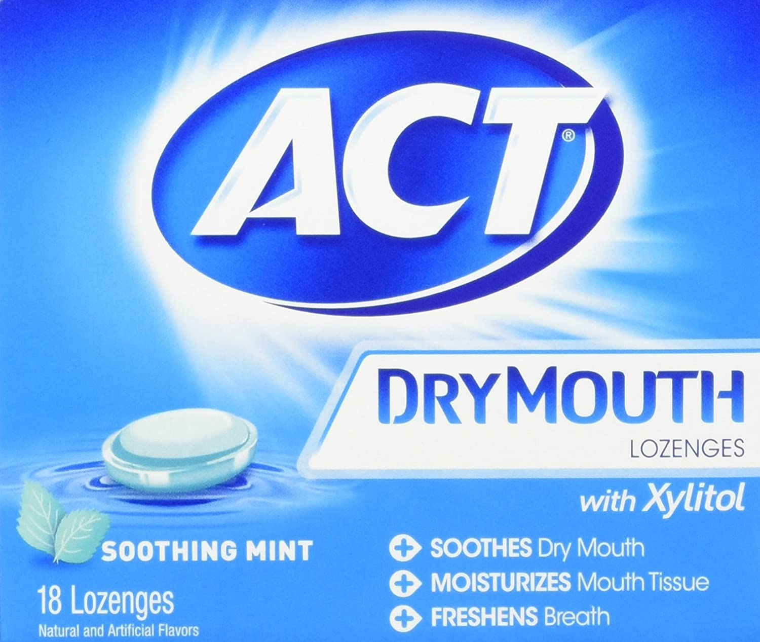 Act Dry Mouth Mint Lozeng Size 18ct,pack of 2 CHATTEM INC usa-iiu-tm580