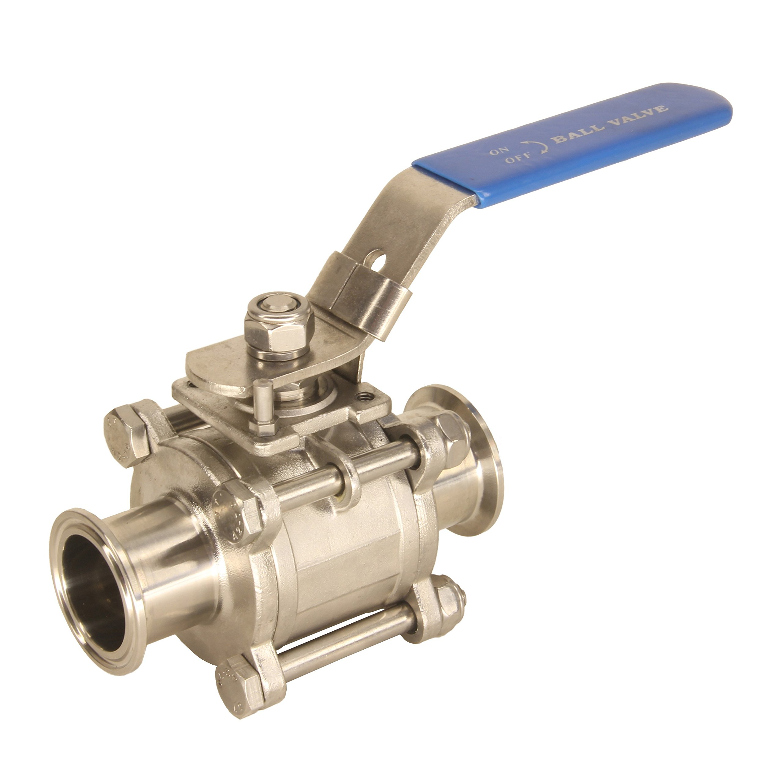 HFS (Tm) 2'' Sanitary Ball Valve - Tri Clamp Clover Stainless Steel 304, PTFE Lined
