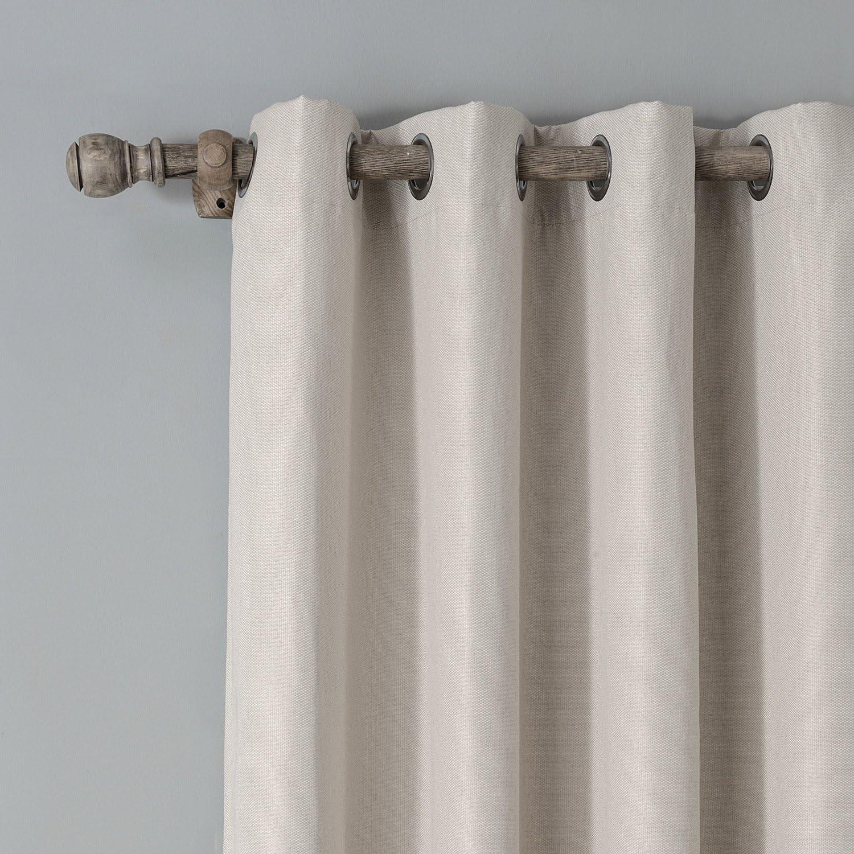 Beige 106x160cm CULASIGN Lot de 2 Rideaux /à Passants en Tissu Oxford avec /œillets pour Chambre denfant Salon Chambre