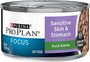 Purina Pro Plan FOCUS Sensitive Skin & Stomach Adult Dry Cat Food & Wet Cat Food