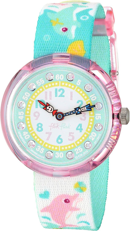 Flik Flak Mädchenuhr Datum Quarz mit Stoffarmband – FBNP035: Amazon.de: Uhren -