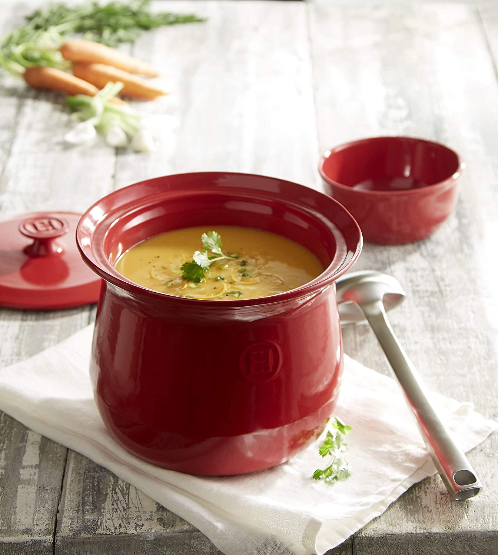 4.2 quart Charcoal Emile Henry 795580 France Flame Cookware Soup Pot