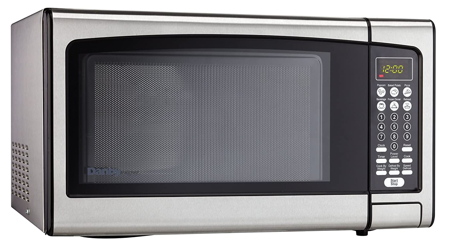 Amazon.com: Danby Designer 1.1 cu.ft. Countertop Microwave, Stainless  Steel: Appliances