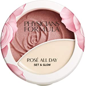 Physicians Formula Rosé All Day Set & Glow Powder & Highlighter Balm, Brightening Rose, 0.36 Ounce