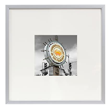 Amazon.com - Frametory, Square Metal Frame Collection, 8X8 Silver ...