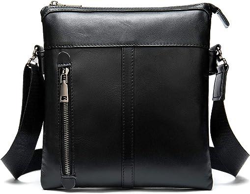 Men Messenger Bag Leather Shoulder Crossbody Business Sling Satchel 2 Set Bags