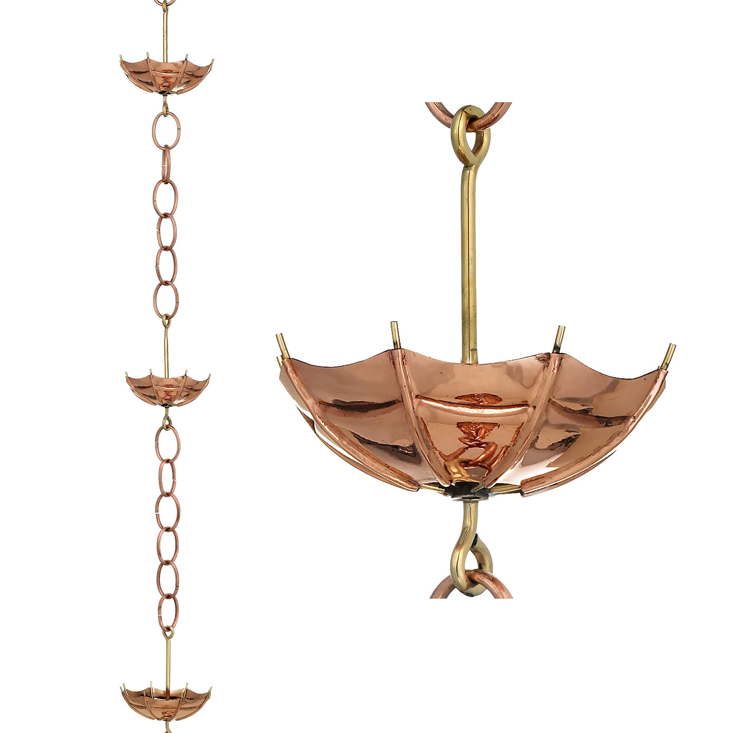 Good Directions Umbrella Pure Copper 8.5-Foot Rain Chain