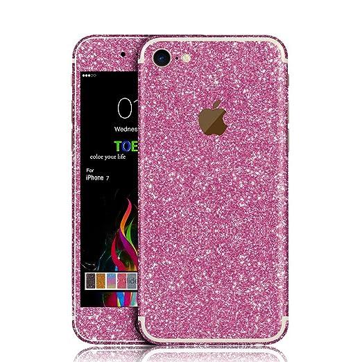 2 opinioni per iPhone 7 Sticker, Toeoe Glitter Sticker Pellicola Glamour Pellicola Stagnola