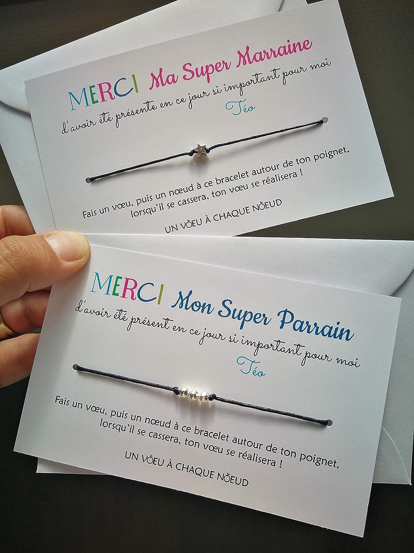 Carte Sinc/ères F/élicitations R/êves Bracelet porte bonheur 3 billes INOX