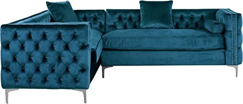 Iconic Home Mozart Elegant Velvet Modern Deeply Tufted