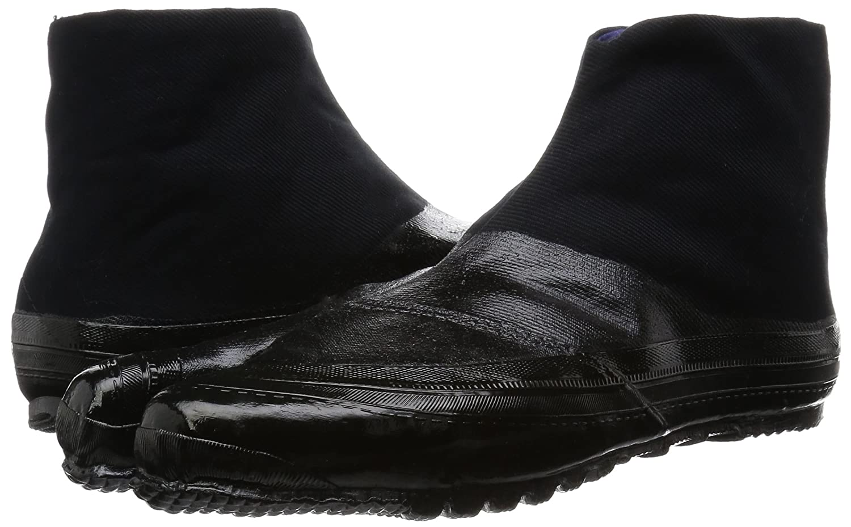 Marugo Jitsuyou Japanische Tabi Schuhe Komplett Schwarz mit 3 Clips