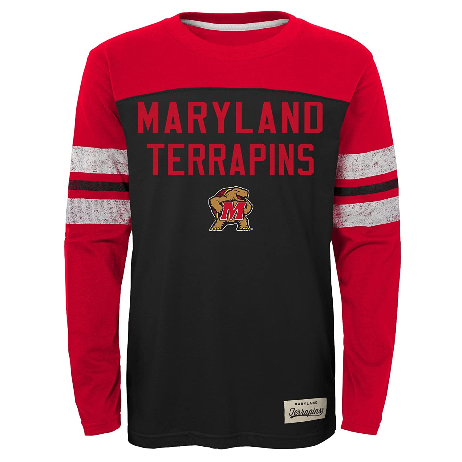 NCAA by Outerstuff NCAA Maryland Terrapins Kids /& Youth Boys Legacy Tee Long Sleeve Crew Youth Medium 10-12 Black