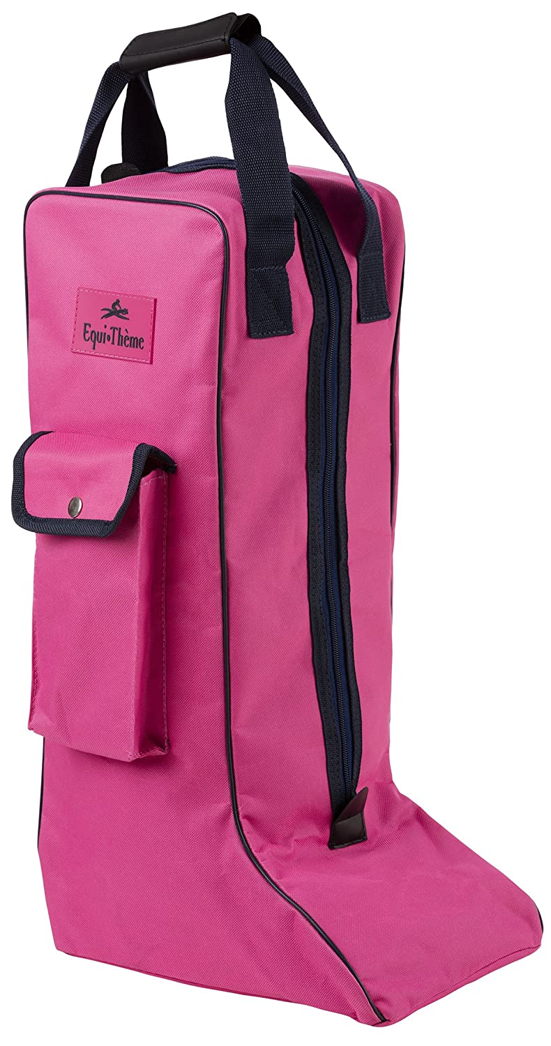 Equi-Theme Boots Bag - Protective Outdoor Horse Riding Stable Yard Event Show Traveling Pink/Navy One Size Equi-Theme/ Equit' M 910621