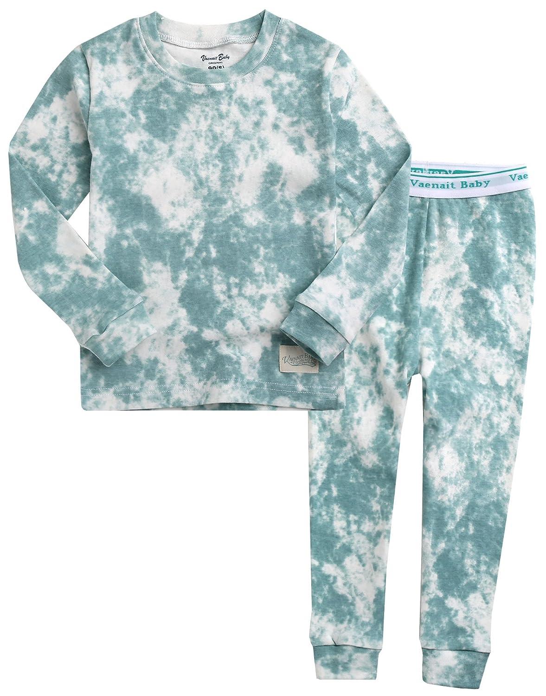 Vaenait Baby 12M-7T Kids Unisex Boys & Girls 100% Cotton Sleepwear Pajamas 2pcs Set Prisim/Cloud