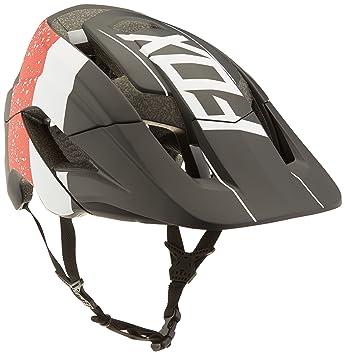 Fox Metah Kroma - Casco de Bicicleta de Hombre, Hombre, Color Rojo, Negro