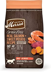 Merrick Grain Free Salmon + Sweet Potato Recipe Dry Dog Food, 4 lbs.