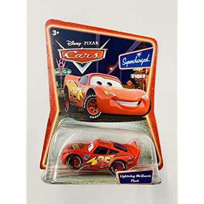 Lightning McQueen Supercharged Background Card Edition 1:55 Scale Mattel: Toys & Games