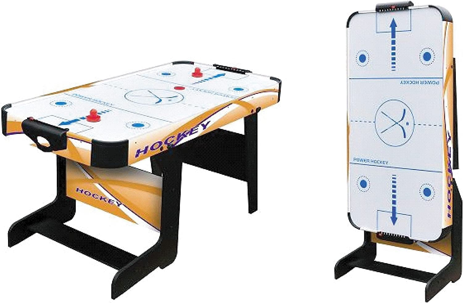 Softee Equipment 0009921 Mesa Air Hockey Plegable, Blanco, S ...