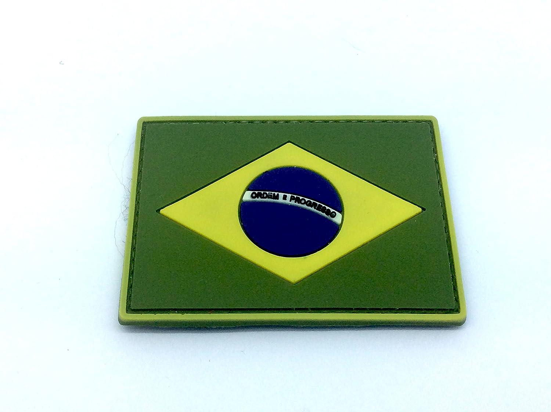 Parche de paintball de Brasil con bandera brasile/ña Airsoft PVC Morale