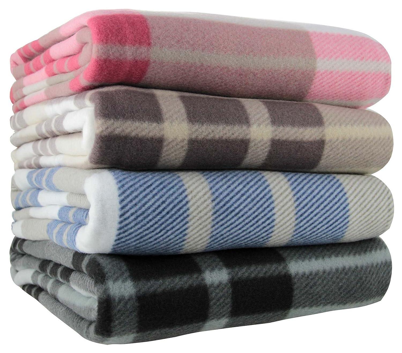 ideal textiles tartan check polar fleece throw blanket suitable