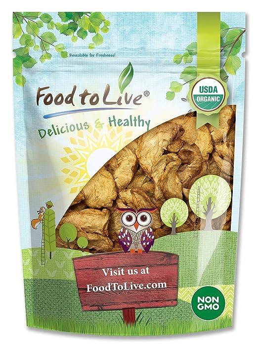 Organic Dried Apple Rings, 8 Ounces - Non-GMO, Kosher, Raw, Vegan, Unsulfured, Bulk