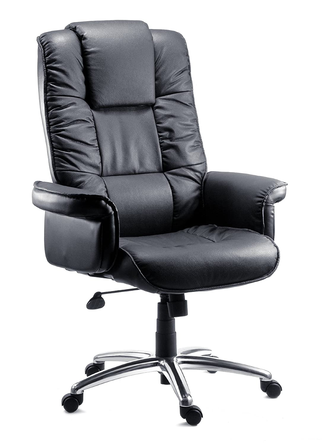luxury leather office chair. teknik lombard leather executive chair soft fill upholstery amazoncouk office products luxury s