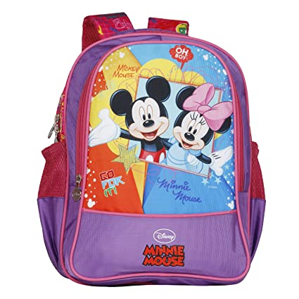 7c2381eac1e Disney School Bag For Girls 06+ Years Mickey Mouse Oh My 22 (L) Purple  (Dm-0069)  Amazon.in  Bags