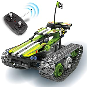 RC Tracks Engineering for Kids – Remote Control Car Kit Building Toys Gift for Boys and Girls Ages 6-15 Years Old | Fun, Cool Educational STEM Learning Toy Set| Best Gift Ideas for Birthday Kids