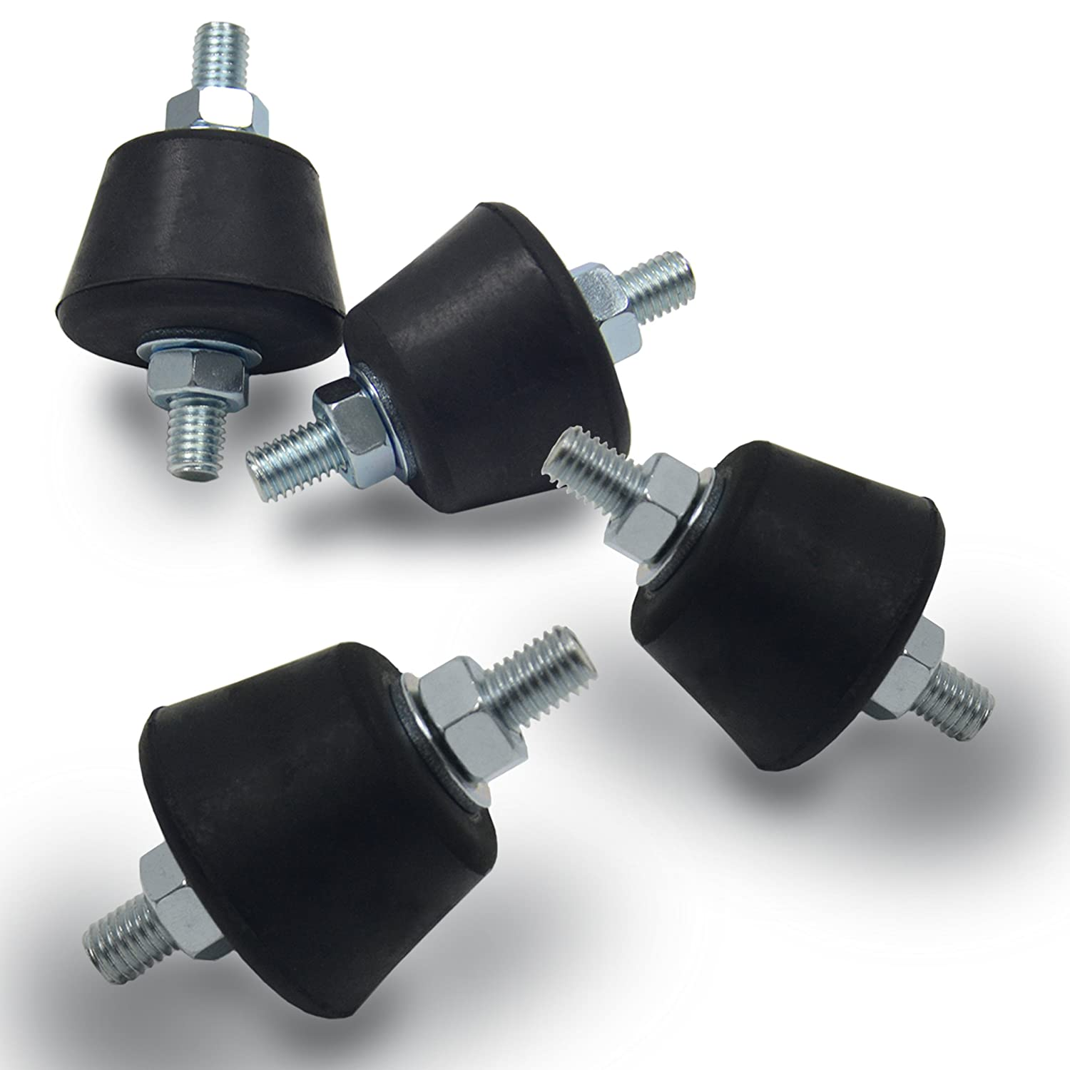 Anti Vibration Rubber Isolator Mounts with Studs Shock Absorber M8-1.25 Jeacent Innovations