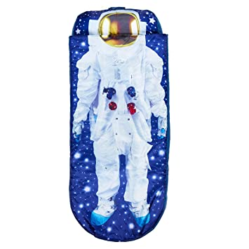 Readybed Cama Hinchable y Saco de Dormir Infantil Dos en Uno, Poliéster, Azul, Individual, 150x62x20 cm
