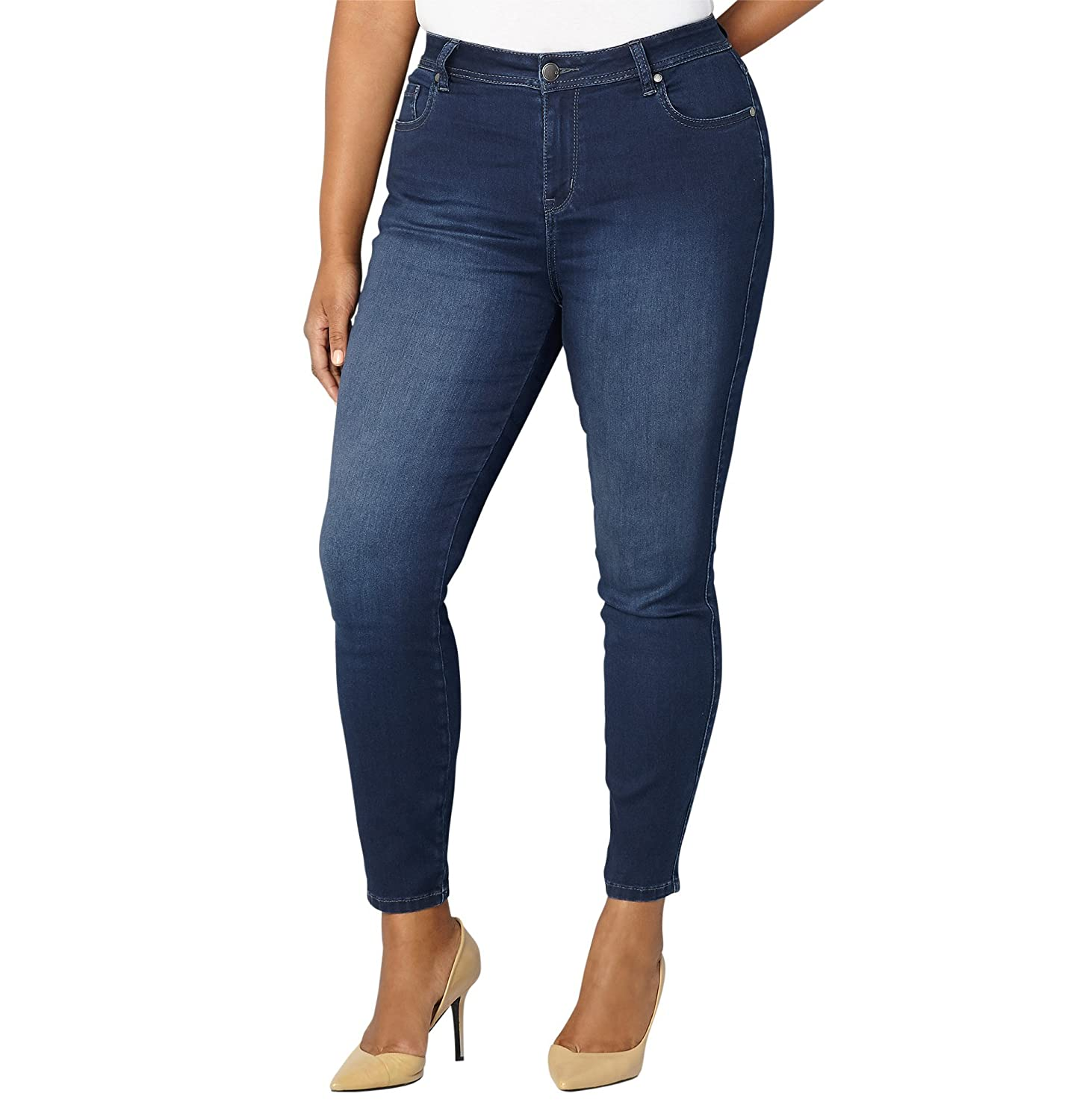 f1783de8a0557 A dark jean never goes out of style. Grab the super-soft butter fabric and  increased stretch for a night out with the girls. Plus, the white interior  is ...