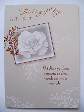 Sympathy Greeting Cards Thinking Of You At This Sad Time Amazonco