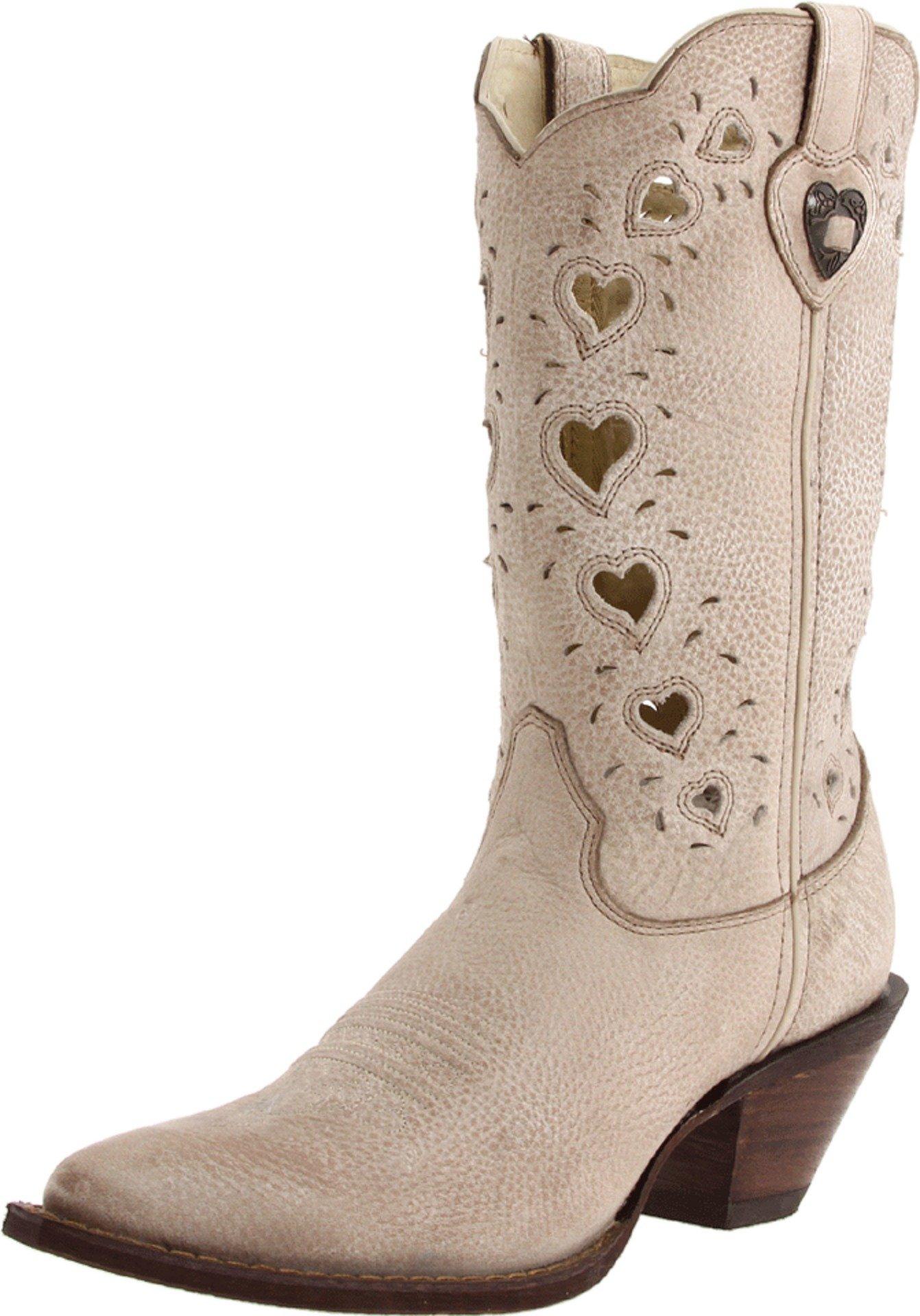 Durango Women's Crush Heart Western Boot,Beige,6.5 B US