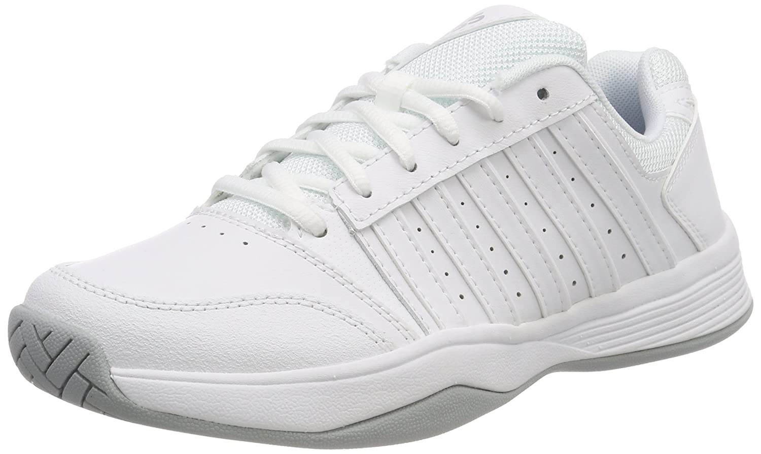 K-Swiss Women`s Court Smash Tennis Shoes White and Highrise-() B079SWWSNT 7 B(M) US|White/White/Highrise