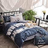 VClife 3 pcs Queen Duvet Cover Sets, Deep Bedding Sets College Dorm Reversible Comforter Cover
