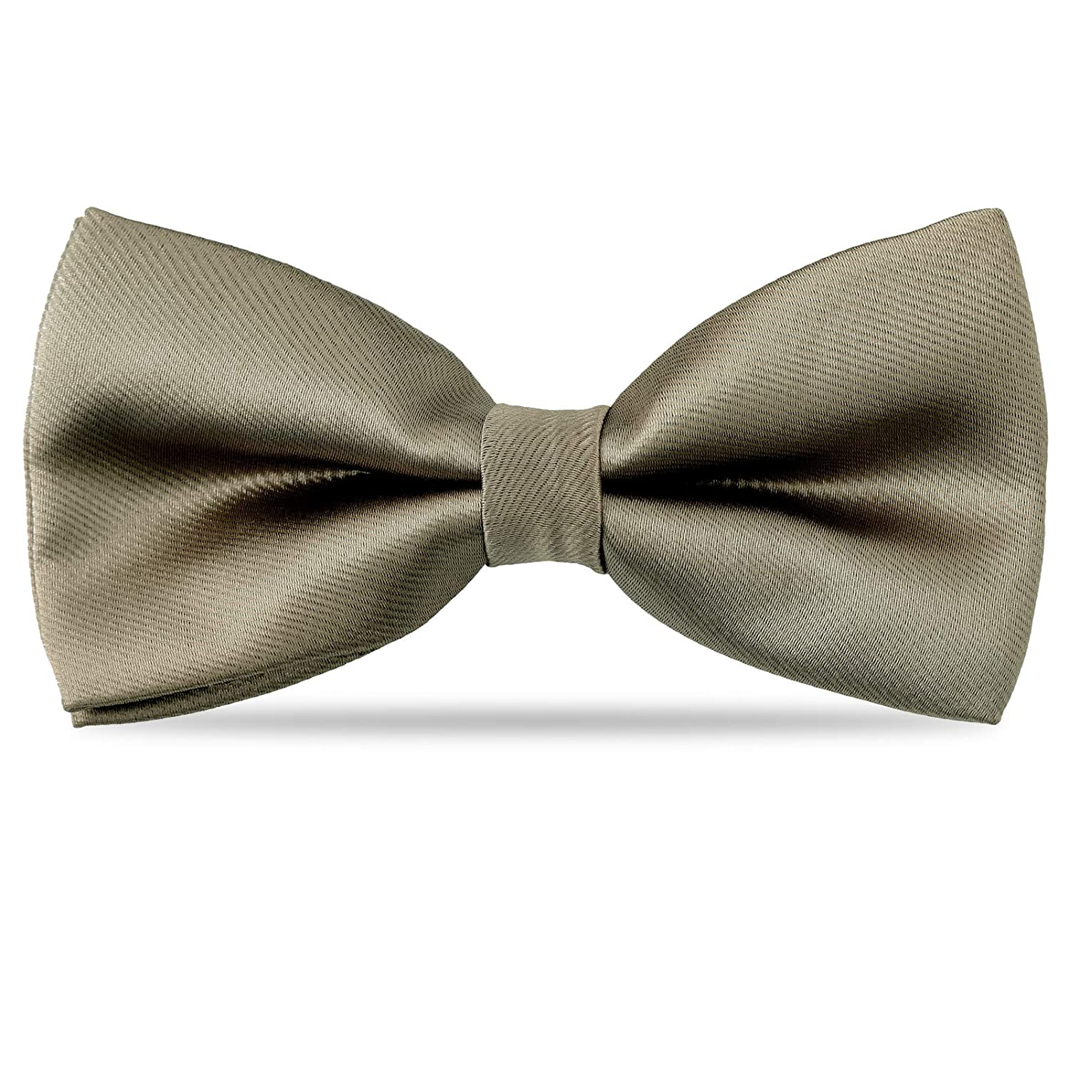 Adjustable Bowtie for Baby Toddler Gifts Kids Boys Silk Bow Ties Gray