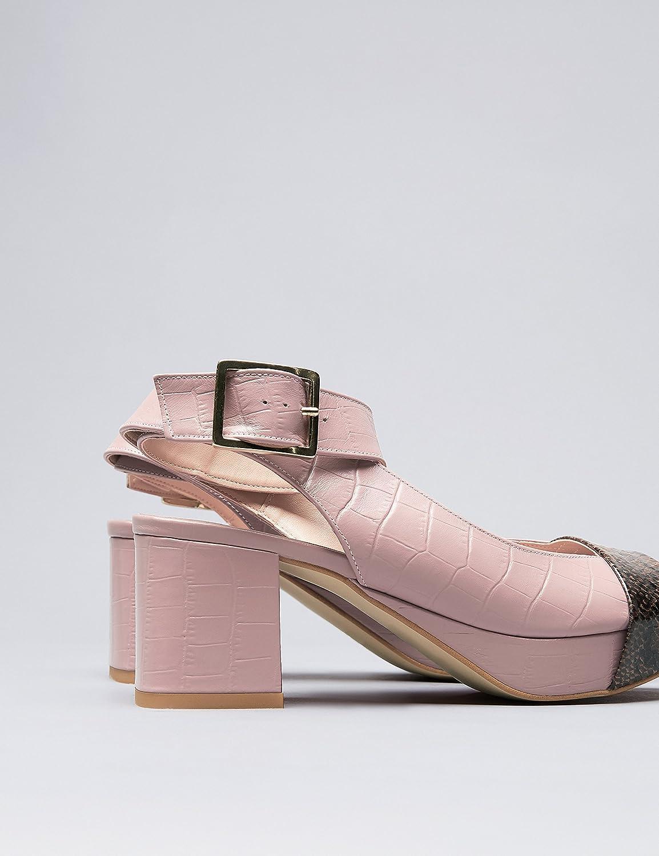 FIND Damen Damen FIND Sandalen aus Leder Pink 314fe4