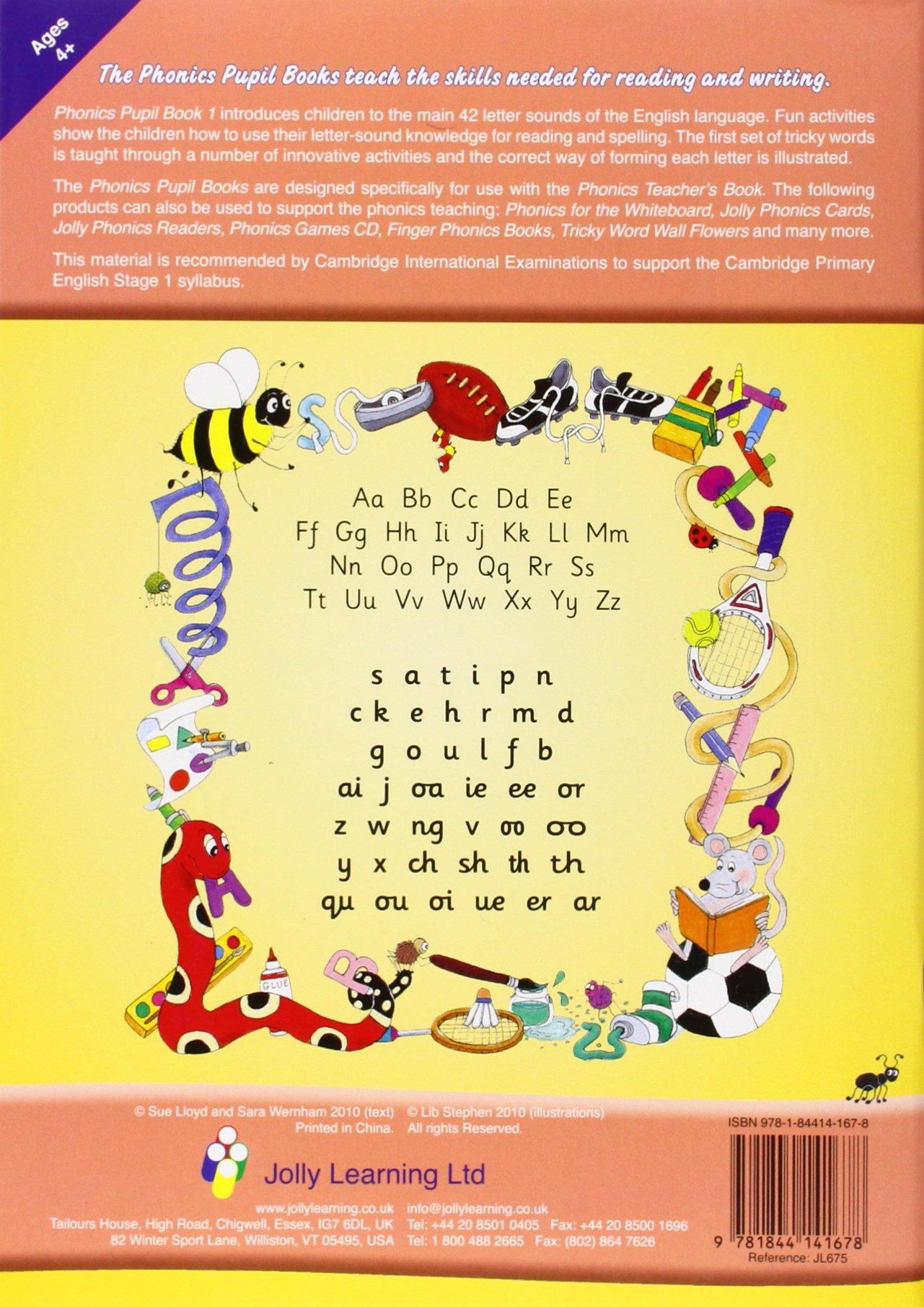 Jolly Phonics Pupil Book 1: in Precursive Letters (British English edition)  (Jolly Learning): Amazon.co.uk: Sara Wernham, Sue Lloyd, Lib Stephen: ...