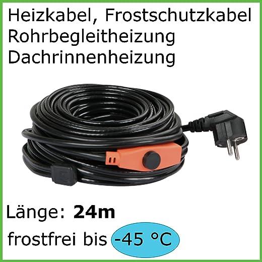 24m Heizkabel Frostschutz Dachrinnenheizung
