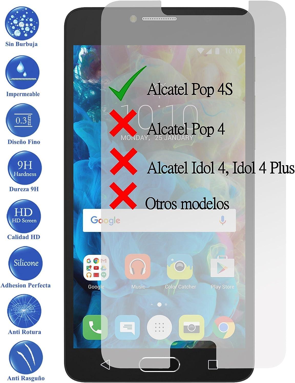 Todotumovil Protector de Pantalla Alcatel Pop 4S de Cristal Templado Vidrio 9H para movil: Amazon.es: Electrónica