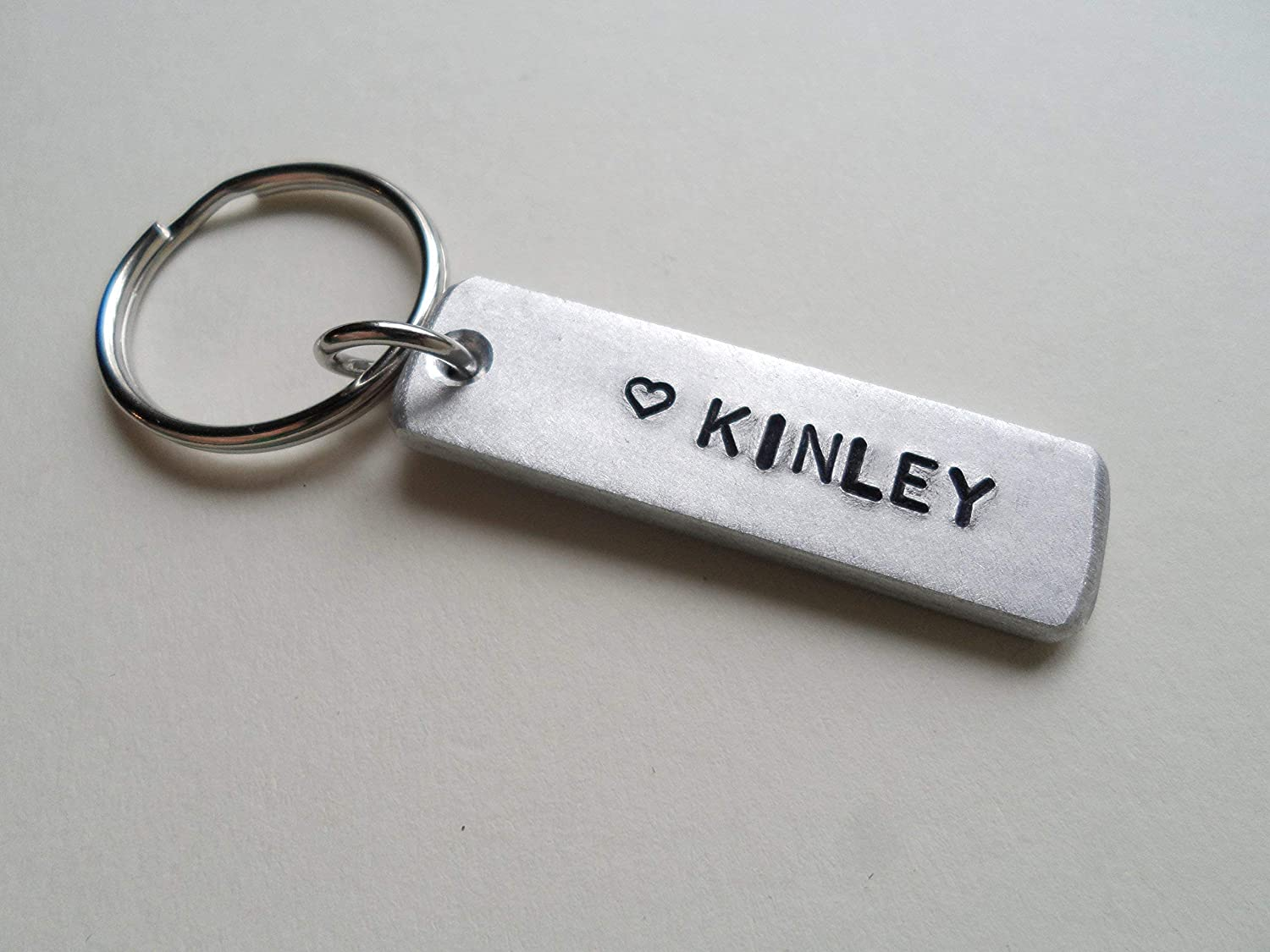 Custom Hand Stamped3,652 Days Happy 10th Aluminum Keychain with optional /& Anniversary Date /& Initials; Couples Anniversary Gift