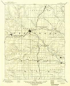 YellowMaps Eureka KS topo map, 1:125000 Scale, 30 X 30 Minute, Historical, 1894, Updated 1949, 20 x 16.28 in