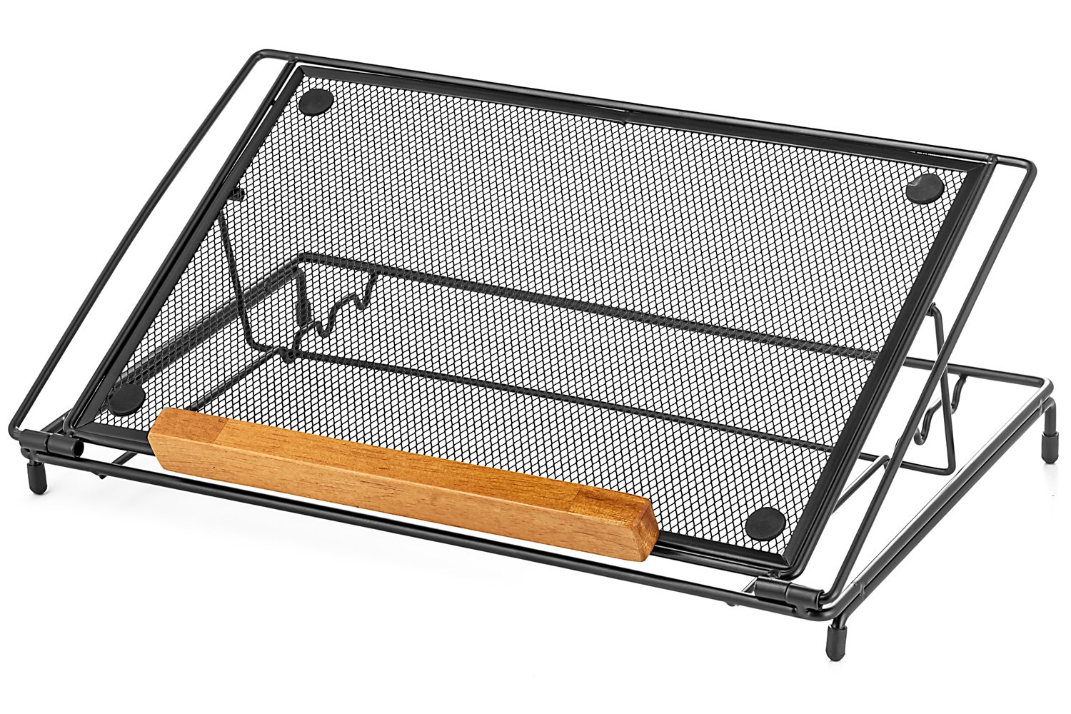 """Halter Mesh Ventilated Adjustable Laptop Stand for Laptop/Notebook/iPad/Tablet and More - 9"""" X 14"""" - Black"""